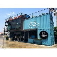 Blue Color Commercial Metal Building Kits Flexible Assembly For Coffee Shop / Cafe Manufactures