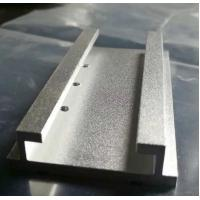 Sandblasted Silver Anodized Aluminum Extrusion Parts with Machining Holes Manufactures
