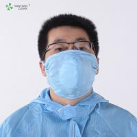 Industrial sterile chemical Washable Fine Dust Cleanroom Three-Dimensional gauze Face Mask electric blue and white face masks Manufactures