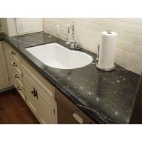 China VanityTops - Fossil Black Marble Vanity Tops For Bathroom Decoration on sale