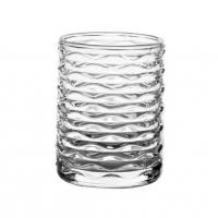Quality Transparent Small Candle Jars With Pattern / Glass Candle Holder For Candle Wax for sale