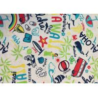 Contemporary Novelty Print Fabric , Sportswear / Suit Printing On Cotton Fabric Manufactures