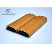 Wood Grain Aluminum Extrusion Profile For Decoration Alloy 6063-T5 / T6 Manufactures