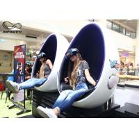 Infinity 9D 720 Virtual Reality Equipment VR Egg Chair 2 Seats For Game Zone Manufactures