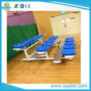 China Portable Gym Aluminum Stadium Bleachers With Wheels Training Centre Use on sale