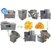 China Small Scale Potato Chips Making Machine Semi Automatic French Fries Production Line on sale