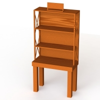 Oak KD Construction Wooden Retail Display Stands With Shelves Manufactures