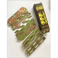Yellow Zinc Color Screw Hook Hinge , 6 Inch Strap Hinges Customized Size Manufactures