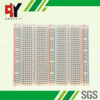 Bigger Soldering Breadboard 3 Distribution Strips With Lines Color Printed Manufactures