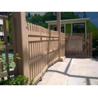 China Custom WPC Outdoor Fence Door for Garden and Wood Plastic Composite Railing on sale