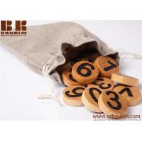 China Wooden education toy numbers with magnets waldorf toy montessori numbers 4 cm diameter on sale