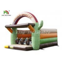 China Inflatable Simulate Shooting Field Unique Contest Sport Game For Festival on sale