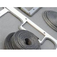 China PTFE Stainless Steel Knitted Wire Mesh Fabric Crimped Corrugated Flat Panel on sale