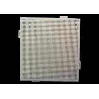 Office Ceiling Perforated Aluminum Sheet Round Holes With Pe Pvdf Coated Manufactures