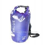 Water-Resistant 10L Blue PVC  Dry Tube Bag , Travel Dry Backpacks with Adjustable Shoulder Strap Manufactures