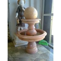 China carved 3 tiers white marble fortune ball on sale