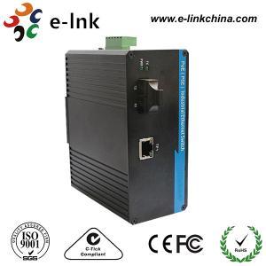 1 Port 10/100M POE Industrial Ethernet To Fiber Media Converter Din Rail Mount Manufactures