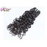 Jet Black Jerry Curl Hairstyles Malaysian Virgin Hair Double Drawn For Black Women Manufactures