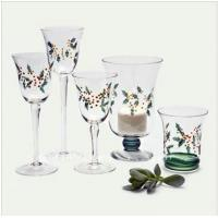 customized Transparent, Decal printing Tall Glass Candle Cups / Cup holder Manufactures