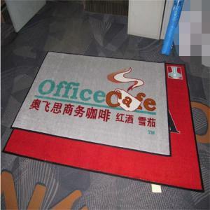 China Nylon material pvc backing printed brand logo entrance mat on sale