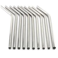 Colorful 304 Reusable Stainless Steel Straws Eco - Friendly With Cleaner Brush Manufactures