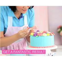 FBT010603 cake decoration kit include turntable stand,piping tips,icing bags,spatula etc. Manufactures