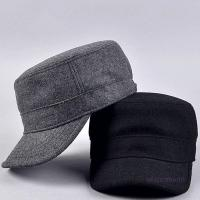 Buy cheap Plain Flat Top Army Cap Custom Military Distressed Hats Fitted Strap Closure from wholesalers