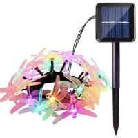 Colored Mini Copper Solar Led String Lights Cool White 10M Length For Decoration Manufactures