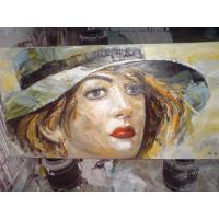 China Original Handcrafted Portrait Oil Painting portrait on Canvas on sale