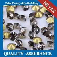 point back glass rhinestones,china manufacturer glass rhinestones point back,pointback glass stone Manufactures