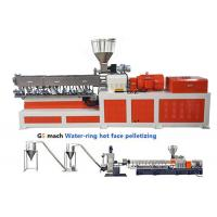 Buy cheap 200 - 300 kg/h Double Screw Extruder  Machine PP Caco3 Water Ring Pelletizing from wholesalers