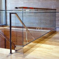 Customized interior railing tempered glass u channel railing system