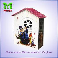 Custom Cartoon Design Kids Toy Cardboard Play House Corrugated Paper Furniture Manufactures