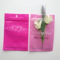 Buy cheap Resealable Cosmetic Packaging Bag Pink Eyelash Earrings Necklace Jewelry Zipper from wholesalers