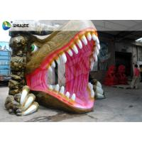 Dinosaur House 5D Movie Theater With Outside Cabin Box , Luxury Electric 9 Seats System Manufactures