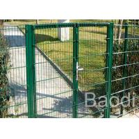 Garden Green Plastic Wire Mesh Fence Bended Panel With Gate 4 - 11 Gauge Manufactures