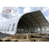 China Big Curve Clear Span Tents For Outdoor Wedding Events And Conference on sale
