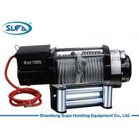 17000lbs Winch Hoist Equipment Dark Grey Powder Coating Finishing High Efficiency Manufactures