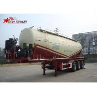 Three Alxe Bulk Cement Tanker Trailer , Long Life Cement Carrier Truck Manufactures