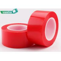 China Red Lining Polyester Film Double Sided PET Tape Solvent Resistant Strong Tensile Strength on sale