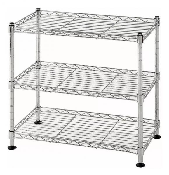 Quality 3 Tier Lightweight Home Wire Shelving Rack Unit Garage Storage Organizer for sale