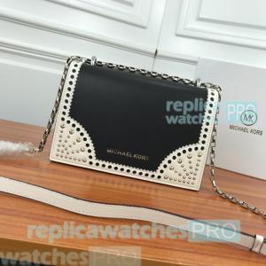 Newest Knockoff Michael Kors Black Genuine Leather Ladies Chain Shoulder Bag Manufactures