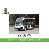 8 Seater Battery Powered Electric Patrol Car , Public Security Car 48V 4KW Green Energy Manufactures