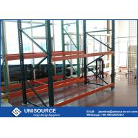 Warehouse Teardrop Pallet Rack System Easy Assembly Heavy Duty Metal Shelving Manufactures