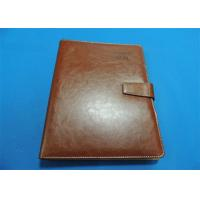 Personalized 1 Color Leather Bound Book Printing A4 B5 With Gloss Lamination Manufactures