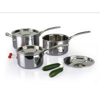China 3Pcs 3-ply stainless steel cookware set SHCY-3010 on sale