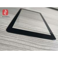 custom shaped 0.7mm cover glass lens chemical strengthened with 2.5D polished edges for 8inch touch screen PC for sale
