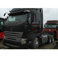 China Used Truck Tractor HOWO 6X4 truck tractor 420 hp black color new type Africa popular product cheap on sale