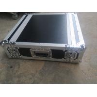 Black Color 2 U Rack case , 2 U Flight Case With 9 MM Thickness Plywood Road Case Manufactures