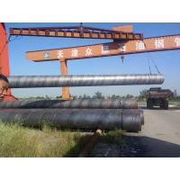 China Black Painted API 5L Welded Steel Pipe Q235 , Q345 For Bridges And Tall Building on sale